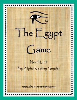 The Egypt Game by Zilpha Snyder Novel Unit-- great tie in to a study of Ancient Egypt. Lots of compare/contrast and mini research opportunities between Egyptian civilzation and the character's games.