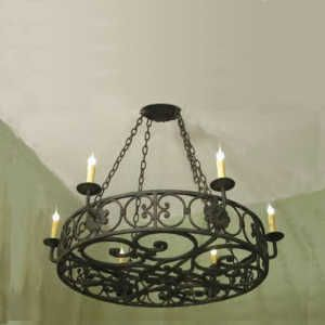 Wrought Iron Chandeliers // Fully Customizable // Illuminaries Lighting