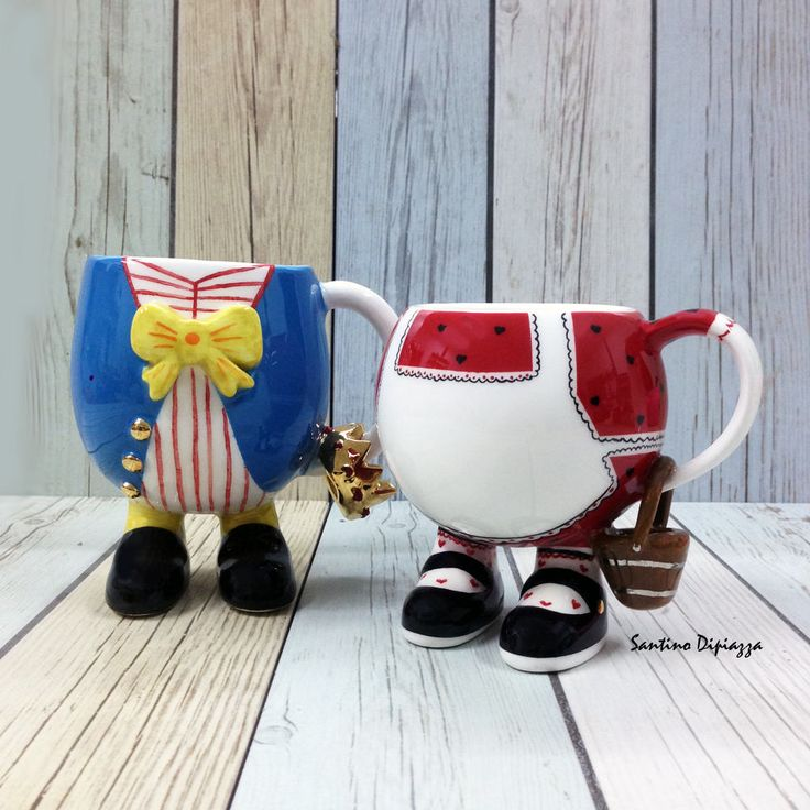 Jack n Jill Coffee Mugs, Walking Pottery, The Nursery Rhyme Collection, Collectors Display Mugs, Unique Novelty Ware, Fine Porcelain Gifts by WalkingPottery on Etsy