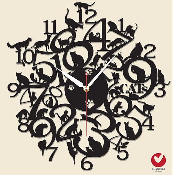 Uniquely Designed Wall Clock made of steel    The clock is handcrafted from steel in size of 17.5or 45 cm.  Each item has been carefully designed,