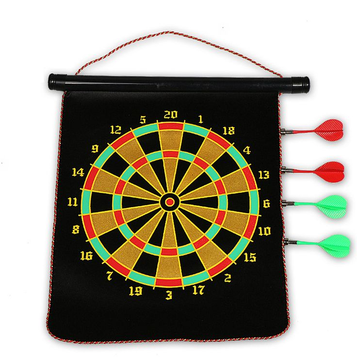 12inch Double-side Darts Board with 4 Free Darts Needle Hanging Magnetic Darts Plates in gift box Home Bar Entertainment #Affiliate