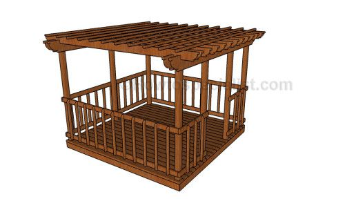 Simple gazebo plans howtospecialist how to build step for 12x12 deck plans
