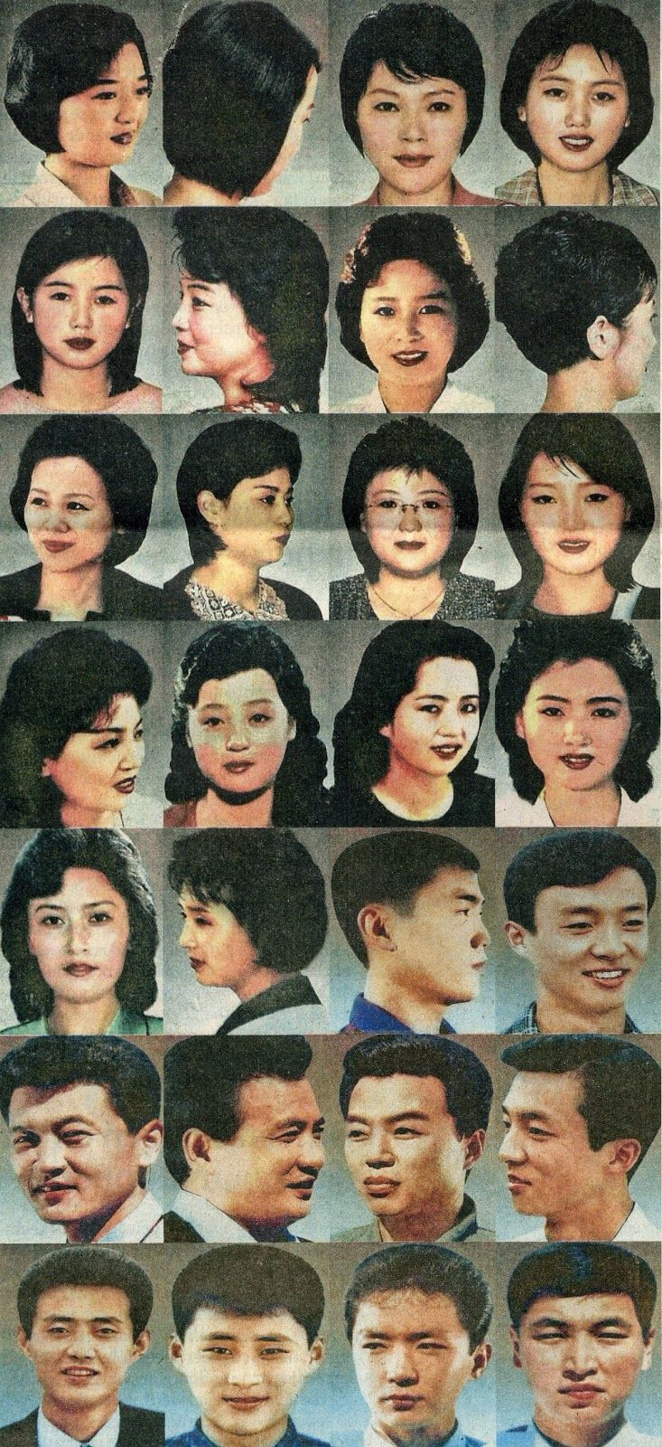 North Korea state approved hairstyles...this is plain out crazy...even the style of hair is law enforced