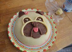 gâteau bulldog chien
