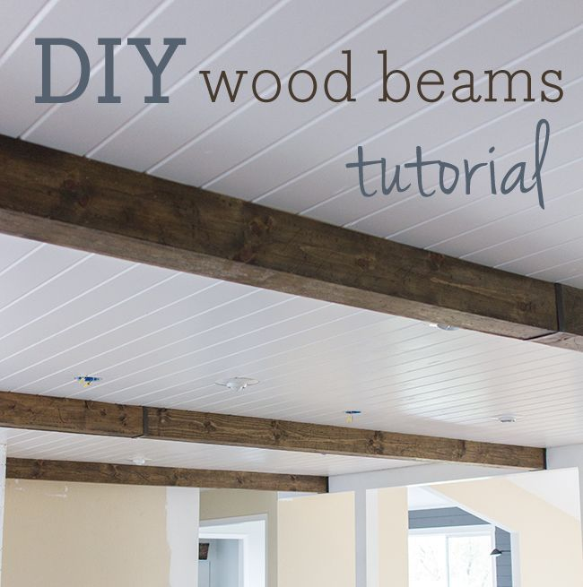 I have a huge love for the rustic look of a good exposed for Exposed wood beam ceiling
