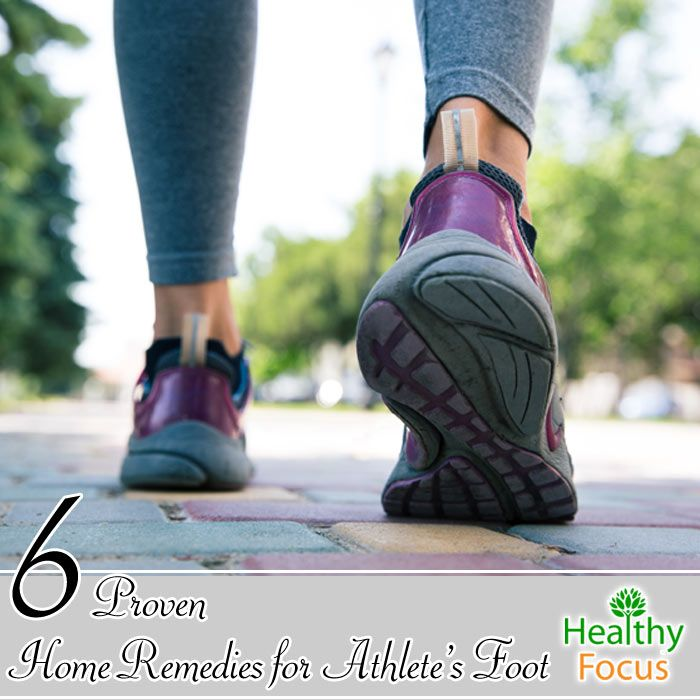 Home Remedies for Athlete's Foot include: Tea Tree Oil, Apple Cider Vinegar, Garlic, Onion, Epsom Salts, Baking Soda and Cornstarch.