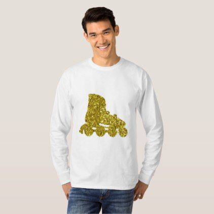 Golden Inline skate Long Sleeve T-Shirt - golden gifts gold unique style cyo