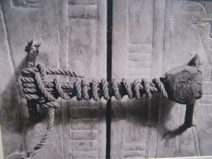 The unbroken seal on King Tut's tomb - Imgur as Harold Carter first saw it