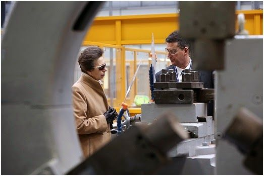 Dave Charnley Photography: The Princess Royal, Princess Anne visit to Sulzer in Middlesbrough