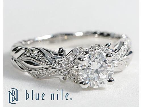 eiros™ Tendril Diamond Engagement Ring in 14k White Gold #BlueNile