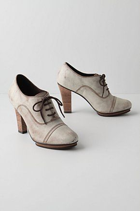 anthropologie winter white oxford heels I love Oxfords #anthrofave…