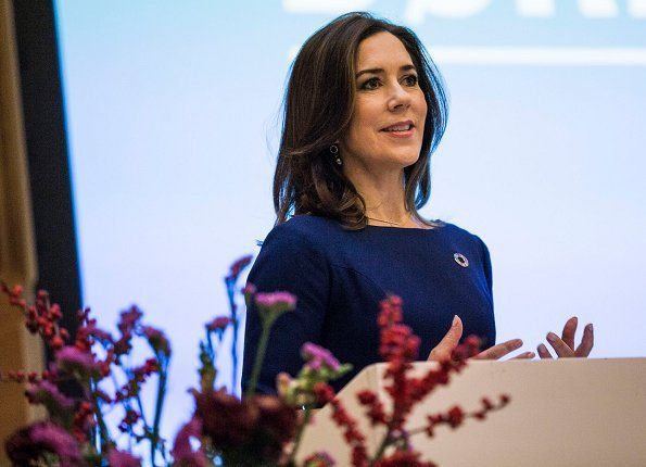 Princess Mary attended Children's Day 2017 and held a speech at UN City Campus, Copenhagen, Nov.20, 2017