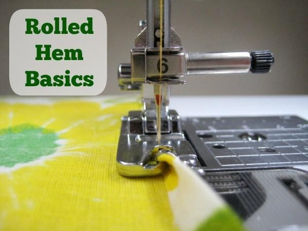 How to create a rolled-hem with a sewing machine
