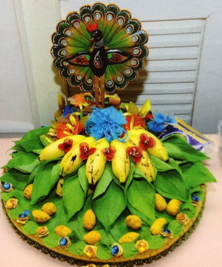 Indian Weddings Garland Dry Coconut Engagement Decorations Trousseau Packing Event Management Company Tray Wedding Decor Ganesh