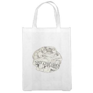 Sky Children Art Nouveau Steampunk Deco Bag