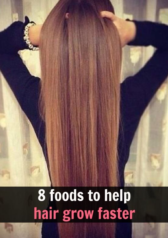 8 foods to make your hair grow faster: Salmon, Yellow bell peppers, Oysters, Eggs, Sunflower seeds, Sweet potatoes, Avocados, and Almonds
