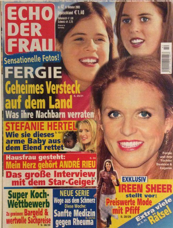 ECHO DER FRAU N. 42/2003 - FERGIE