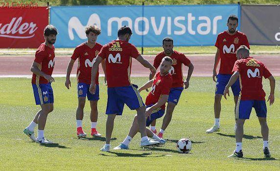 La selección española prepara el partido ante Colombia sin los jugadores del Real Madrid