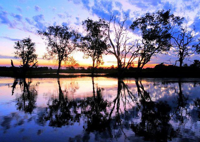 Sunset Yellow Waters Kakadu, Northern Territory Australia