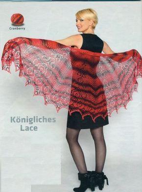 Шали спицами. Схемы. 14 / Вязание спицами / Вязание для женщин спицами. Схемы