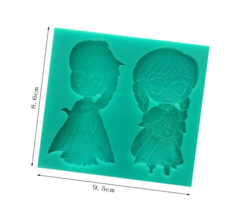 Disney FROZEN elsa anna silicon mold chocolate ice cake baking supply decoration kitchen dinning desert party bithday ideas ‪#‎baking‬ ‪#‎Etsy‬ by Yarniness