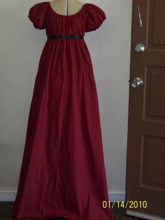 Jane Austen Regency Style Costume Dress Size 6/8 Women