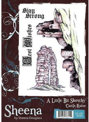 A Little Bit Sketchy Stamp Set - Castle Ruins by Sheena Douglass