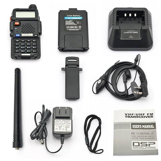 Radio Portátil VHF/UHF Dual Band