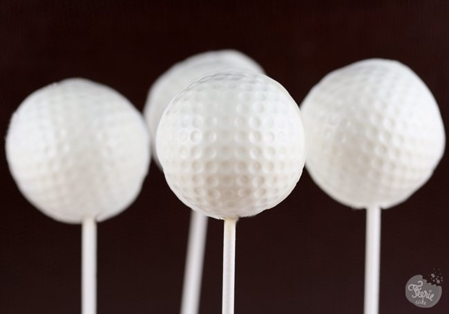 golf cake pops - for Mom