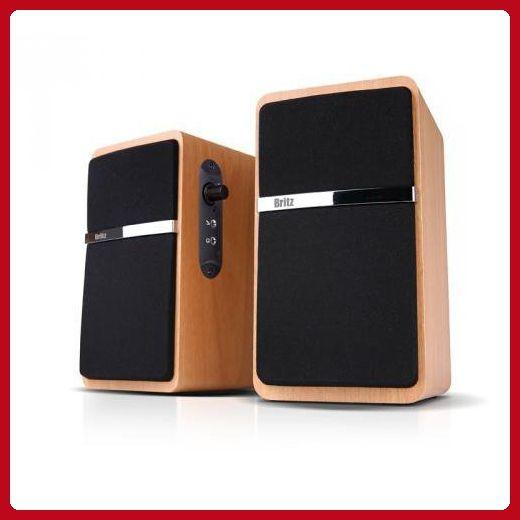 Britz 2.0Ch Premium USB Powerd Speaker, Z-2100 Pinacle2, 2.0CH Dynamic Acoustic Sound, MDF Wooden Made, Computer Speaker, Laptop PC Speaker - Audio gadgets (*Amazon Partner-Link)