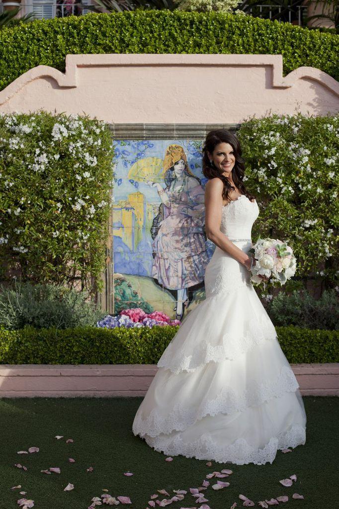Beautiful Real Bride Kelley in Tara Keely wedding dress style 2052