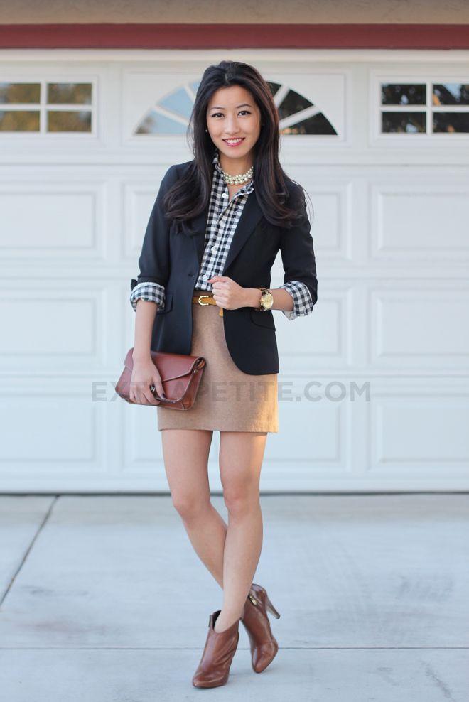 70 best How to Wear: Khaki Skirt images on Pinterest