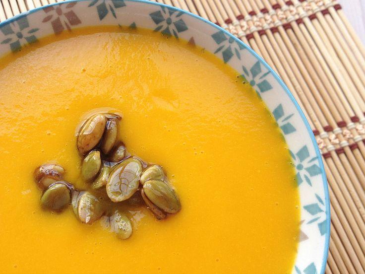 Crema de calabaza {con azafrán y naranja} by Yotam Ottolenghi