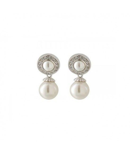 Cerceii Vintage Pearl au un design clasic, elegant, contin 2 perle. Cea din partea superioara este inconjurata de cristale mici pentru un plus de stralucire. Pot fi accesorizati la tinutele elegante si office. Reprezinta cadoul ideal pentru doamnele ce ad