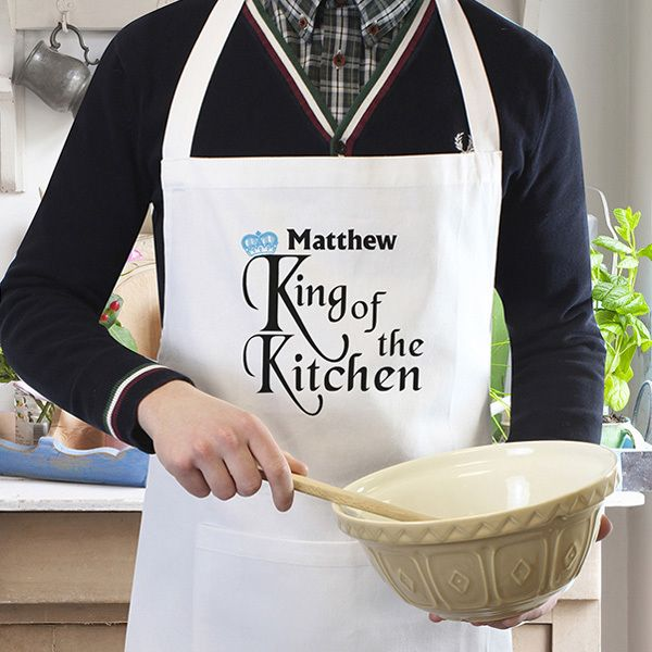 The Kitchen Gift Company - Personalised King of the Kitchen Apron, £11.95…