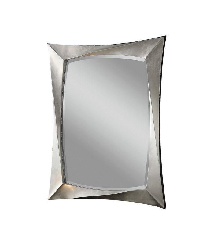 Espelho retangular en cor preto
