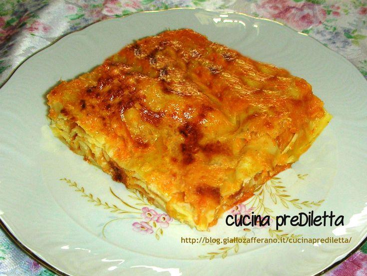 Lasagne con la zucca, ricetta vegetariana | cucina preDiletta