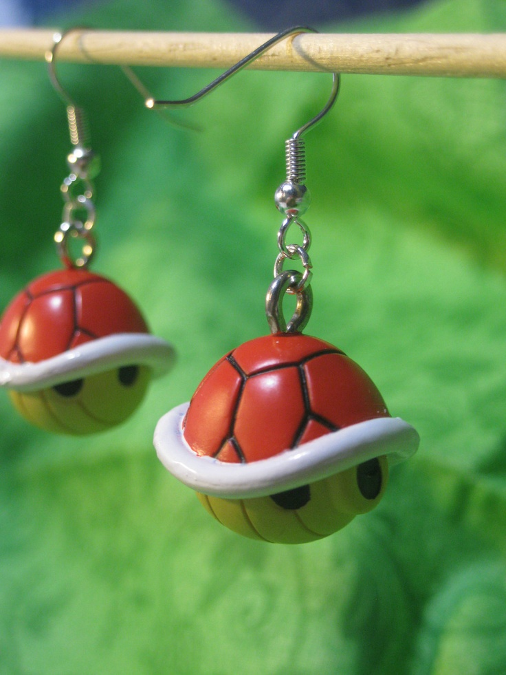 super mario earrings