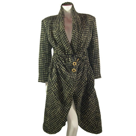 Vintage Issey Miyake Hand Woven 'rideau de théâtre' Coat - Early 1980s