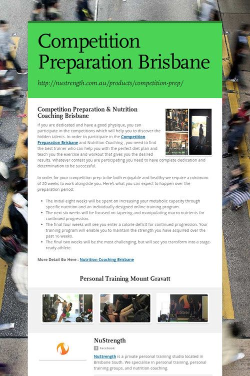 Competition Preparation Brisbane