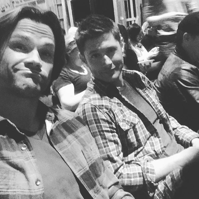 From Jared's Instagram: About to watch the Season 12 premiere with Jensen Ackles. What are YOU doing? #spnfamily