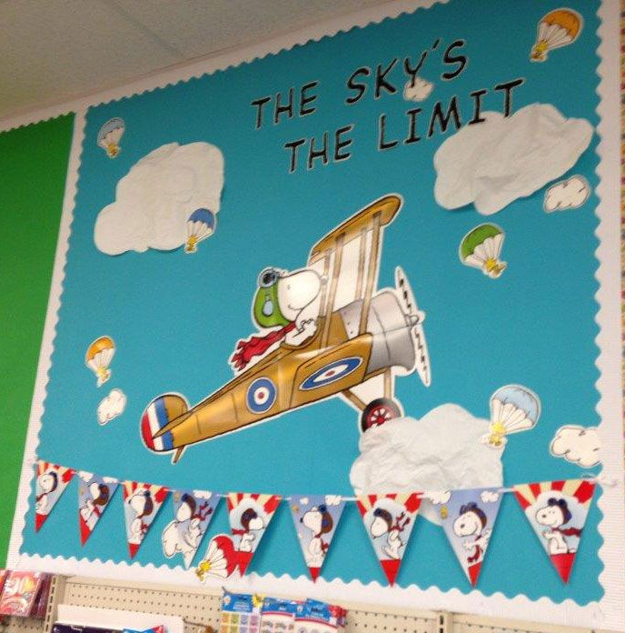 Peanuts® Flying Ace products displayed at Teachers Tools in Lewisville, TX