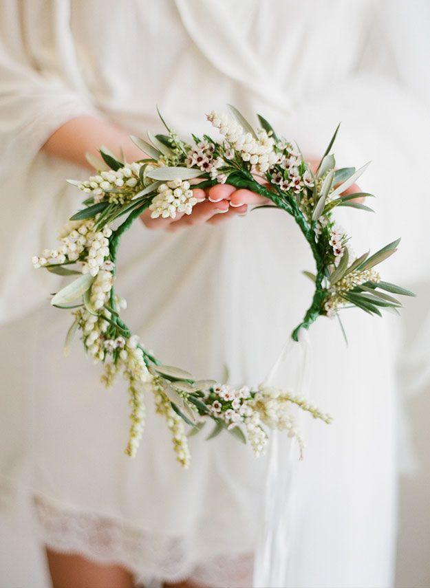 Flower Crown Blumenkrone Hochzeit Hochzeit Frisuren Blumenkranz Braut Blumen