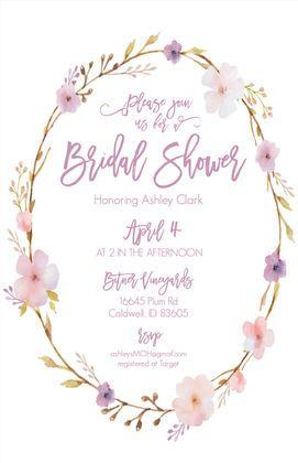 Print: Floral Wreath Bridal Shower