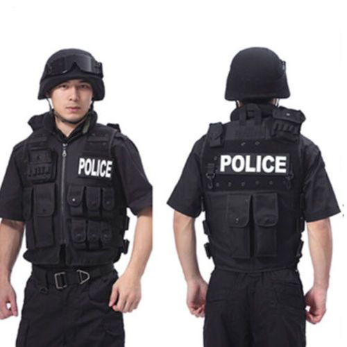 #Military #style police black #tactical vest paintball army combat assault airsof,  View more on the LINK: http://www.zeppy.io/product/gb/2/232195919121/