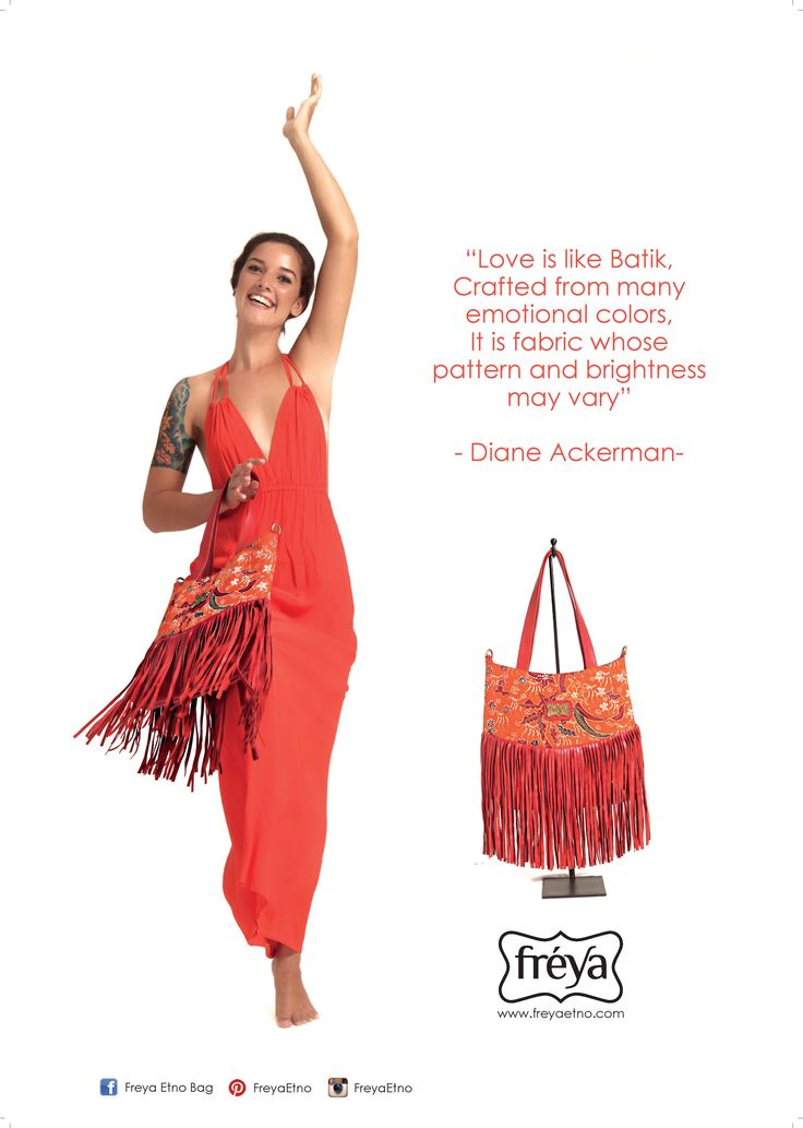 Love is like batik, crafted from many emotional colors, it is fabric whose patern and brightness may vary --- diane ackerman  Batik quote for Etnic bag campaign