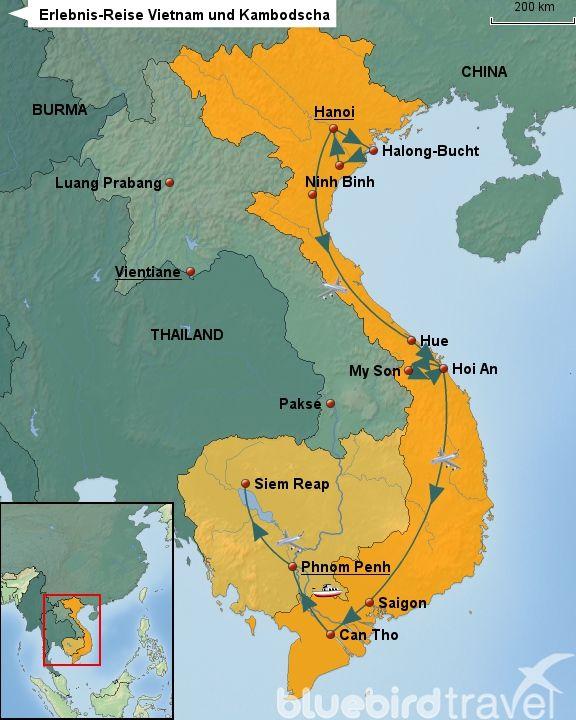 Erlebnis-Reise Vietnam und Kambodscha