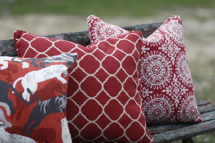 What better way to bring fresh styling to your space than to add lovely #red throw pillows!