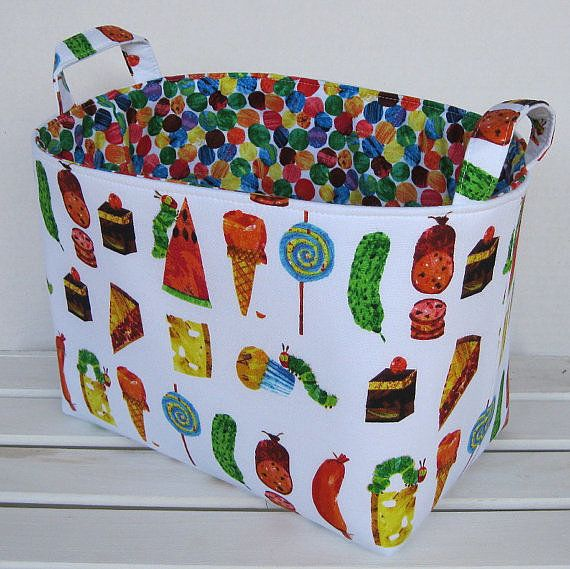 Bring a little fun to your tot's playroom with these colorful toy baskets ($27).