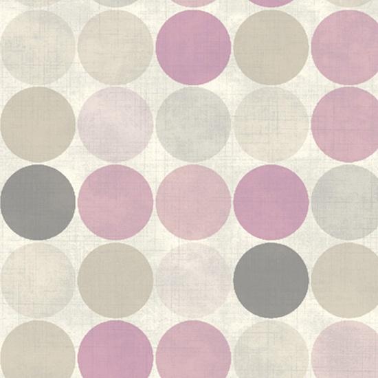 papier peint duplex cr puscule pois roses fresco. Black Bedroom Furniture Sets. Home Design Ideas